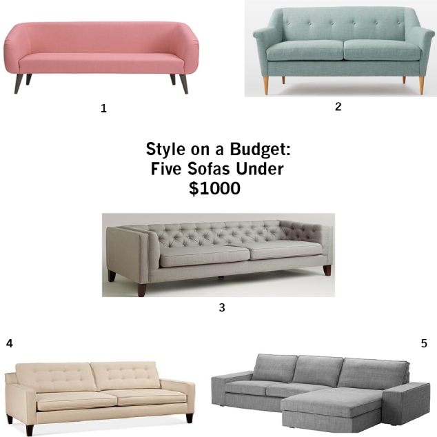 style on a budget five sofas under 1000