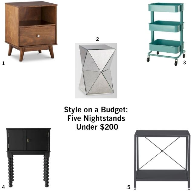 5 nightstands under 200