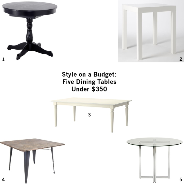five dining tables under 350