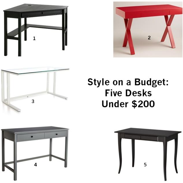 5 desks under 200