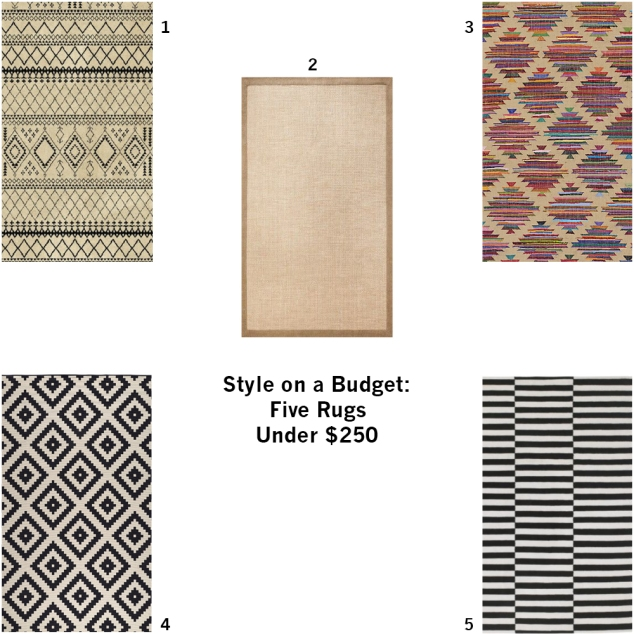 style on a budget 5 rugs under 250