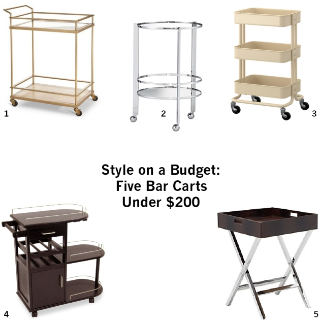 Style on a budget-five bar carts under 200