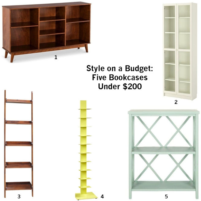 style on a budget five bookcases under 200